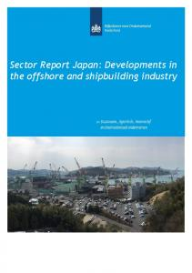 Sector Report Japan: Developments in the offshore and shipbuilding industry