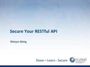 Secure Your RESTful API