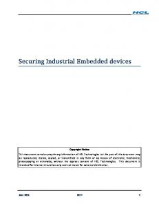Securing Industrial Embedded devices