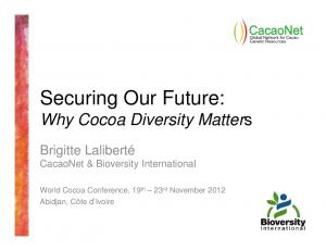 Securing Our Future: Why Cocoa Diversity Matters