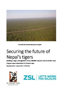 Securing the future of Nepal s tigers