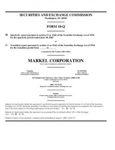 SECURITIES AND EXCHANGE COMMISSION. Washington, DC FORM 10-Q