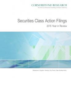 Securities Class Action Filings