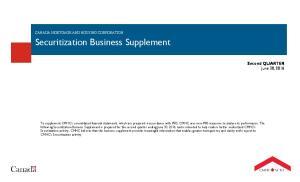 Securitization Business Supplement