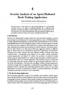Security Analysis of an Agent-Mediated Book Trading Application