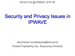 Security and Privacy Issues in IPWAVE