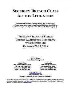 SECURITY BREACH CLASS ACTION LITIGATION