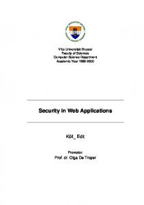 Security in Web Applications