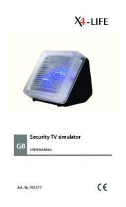 Security TV simulator USER MANUAL. Art.-Nr