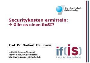 Securitykosten ermitteln: Gibt es einen RoSI?