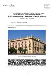 Sede del TSJ de la Comunidad Valenciana