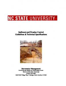 Sediment and Erosion Control Guidelines & Technical Specifications