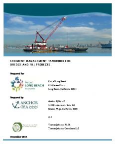 SEDIMENT MANAGEMENT HANDBOOK FOR DREDGE AND FILL PROJECTS