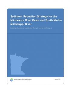 Sediment Reduction Strategy for the Minnesota River Basin and South Metro Mississippi River