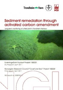 Sediment remediation through activated carbon amendment