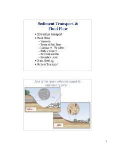 Sediment Transport & Fluid Flow