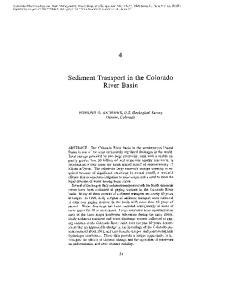 Sediment Transport in the Colorado River Basin