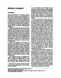 Sediment transport. Introduction