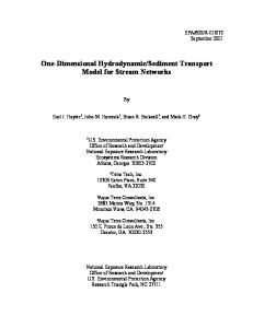 Sediment Transport Model for Stream Networks