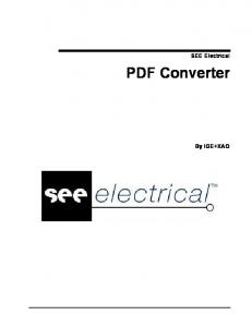 SEE Electrical. PDF Converter. By IGE+XAO