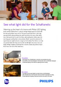 See what light did for the Schafraneks