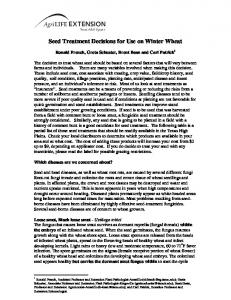 Seed Treatment Decisions for Use on Winter Wheat