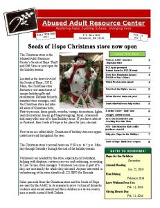 Seeds of Hope Christmas store now open