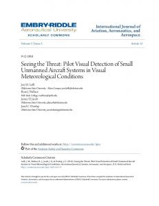 Seeing the Threat: Pilot Visual Detection of Small Unmanned Aircraft Systems in Visual Meteorological Conditions