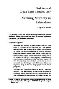 Seeking Morality in Education