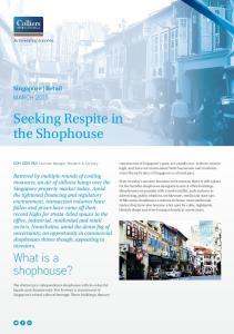 Seeking Respite in the Shophouse