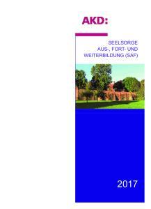 SEELSORGE AUS-, FORT- UND WEITERBILDUNG (SAF)