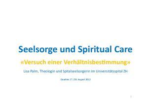 Seelsorge und Spiritual Care