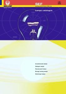 SEF. Lamps catalogue. Incandescent lamps. Halogen lamps. Fluorescent lamps. Energy saving lamps. Discharge lamps STEAUA ELECTRICA FIENI S.A