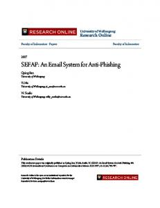 SEFAP: An  System for Anti-Phishing