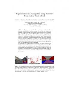 Segmentation and Recognition using Structure from Motion Point Clouds