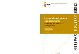 Segmentation of pension plan participants