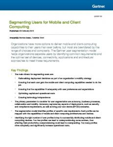 Segmenting Users for Mobile and Client Computing
