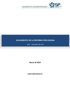 SEGUIMIENTO DE LA REFORMA PREVISIONAL