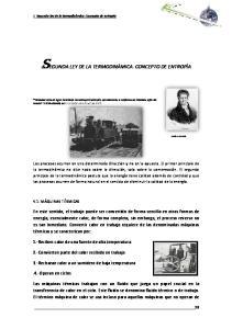 SEGUNDA LEY DE LA TERMODINÁMICA. CONCEPTO DE ENTROPÍA