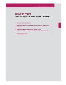 SEGUNDA PARTE RECONOCIMIENTO CONSTITUCIONAL