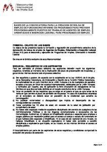 SEGUNDA.- REQUISITOS DE LOS ASPIRANTES
