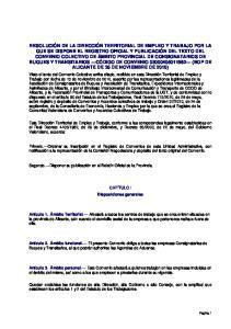 Segundo. Disponer su publicación en el Boletín Oficial de la Provincia. CAPÍTULO I Disposiciones generales