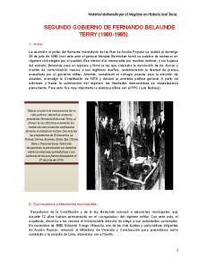 SEGUNDO GOBIERNO DE FERNANDO BELAUNDE TERRY ( )