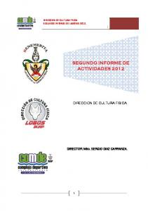 SEGUNDO INFORME DE ACTIVIDADES 2012
