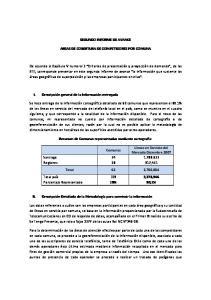 SEGUNDO INFORME DE AVANCE AREAS DE COBERTURA DE COMPETIDORES POR COMUNA