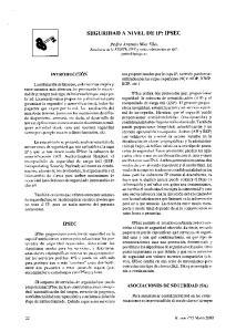 SEGURIDAD A NIVEL DE IP: IPSEC