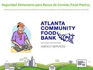 Seguridad Alimentaria para Banco de Comida (Food Pantry)