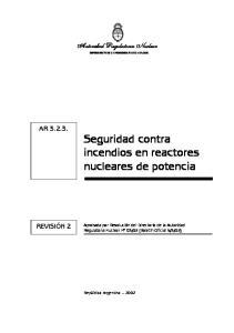 Seguridad contra incendios en reactores nucleares de potencia