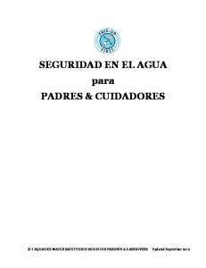 SEGURIDAD EN EL AGUA para PADRES & CUIDADORES