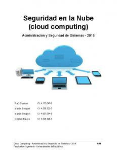 Seguridad en la Nube (cloud computing)